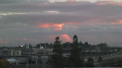 Southeast Portland At Sunset Stock Footage