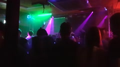 HELSINKI, UUSIMAA, FINLAND, MARCH 25 People dancing at a night club in helsin Stock Footage