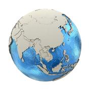 Southeast Asia on model of planet Earth - stock illustration