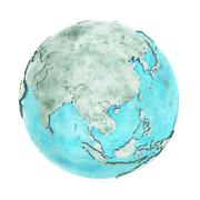 Southeast Asia on marble planet Earth Stock Illustration