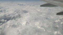 Italian Alps Swiss Mountains Panoramic Aerial View From Sky Airplane - stock footage