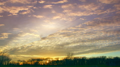 Amazing time lapse sunset with spectacular clouds - stock footage