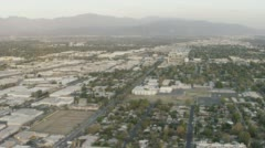 WS AERIAL View of View of suburban area Stock Footage
