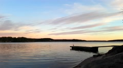 Sunset in the archipelago outside raasepori, finland - stock footage
