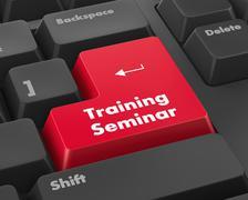 training seminar - stock illustration