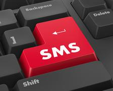 sms - stock illustration