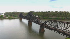 Industrial Railroad Bridge in Western Pennsylvania Stock Footage