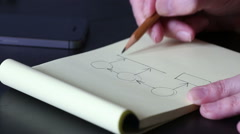Drawing a structure. Stock Footage