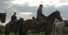 Polish Flag Day in Opole Soldiers on War Horses in Authentic Vintage Military Stock Footage