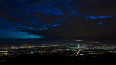 San Fernando Valley near Los Angeles, California at Dusk Timelapse Stock Footage