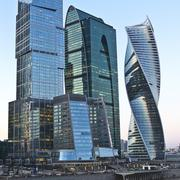 Skyscrapers Moscow International Business Center. Stock Photos