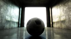 Soccer Ball Sports Stadium Tunnel Stock Illustration