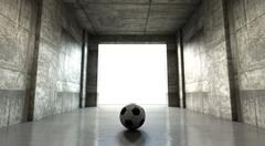 Soccer Ball Sports Stadium Tunnel Piirros