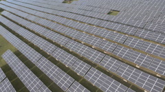 Aerial video of solar power park. Stock Footage