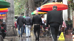 Texas San Antonio people walking with mariachis Stock Footage