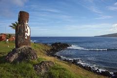 Easter Island Statue - stock photo