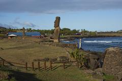 Easter Island Statue Stock Photos
