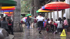 Texas San Antonio server in Mexican restaurant Stock Footage