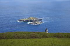 Islands of Motu Nui and Motu - stock photo