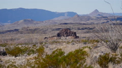 Texas Big Bend rocks in the desert Stock Footage