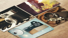4k - Isometric painting of old cameras Stock Footage
