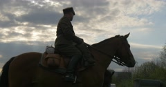 Polish Cavalry on Horseback Stock Footage