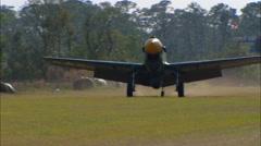 Curtiss P-40 Warhawk Landing Stock Footage