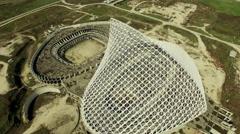 Aerial video Rome, Vela designed by architect Calatrava under costruction. N. Stock Footage