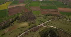 4K Aerial, Bavarian Landscapes, Germany - stock footage
