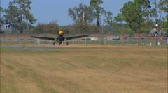 Curtiss P-40 Warhawk Take Off Stock Footage