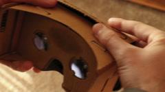 GoogleCardboard VR Setup-CU Stock Footage