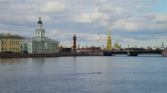 Saint Petersburg canals Time-lapse Stock Footage