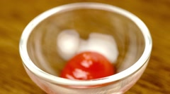 Delicious sweet tomato ketchup pouring into bowl ready to serve. Stock Footage