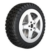 New rubber tire for car isolated on white background. - stock illustration