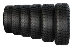 New rubber tires for car isolated on white background. - stock illustration