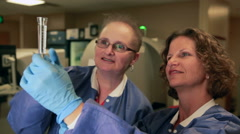 Blood Testing In Medical Hospital Lab - stock footage