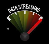 data streaming meter sign concept - stock illustration