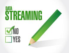 no data streaming approval sign concept - stock illustration