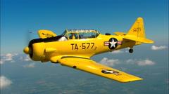 North American AT-6 Texan AirToAir Turn Stock Footage