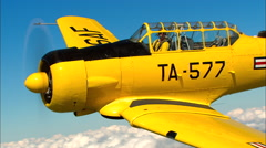 North American AT-6 Texan AirToAir CU Stock Footage
