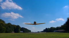 North American AT-6 Texan Head On Take Off Stock Footage
