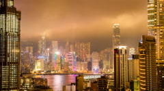 Hong Kong Bright Nights with Spring Weather Stock Footage
