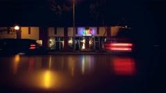 WEST HOLLYWOOD: Traffic on Santa Monica Blvd at night. 4K UHD Stock Footage