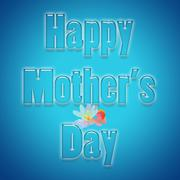 Mother's day greeting with text Happy Mother's day on a blue background. - stock illustration