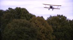 Stearman Cloudboy 6L Landing Stock Footage