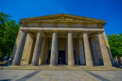 BERLIN, GERMANY - JUNE 06, 2015: Frontal facade of Neue Wache museum, mother and Stock Photos