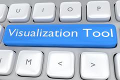 Visualization Tool concept - stock illustration
