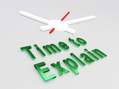 Time to Explain concept - stock illustration