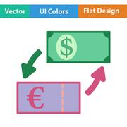 Icon of currency exchange Stock Illustration