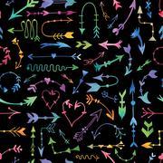 Vector Tribal Arrow Pattern - stock illustration